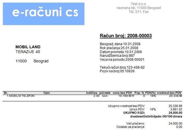 E Računi Poslovni Softver Na Webu Poslovnisoftvernet