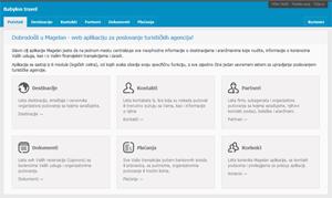 Početna strana Magelan web aplikacije