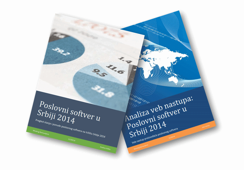 Komplet izveštaja i analize poslovnog softvera u Srbiji 2014