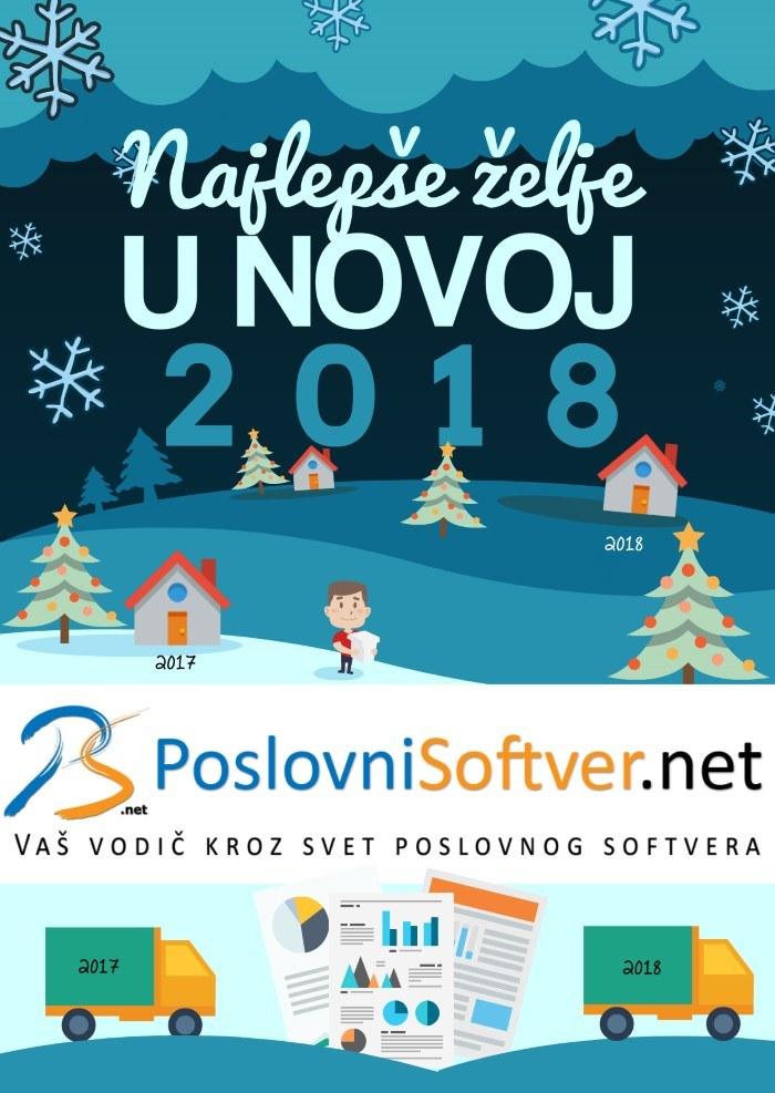 2018 Novogodišnja čestitka - PoslovniSoftver.net